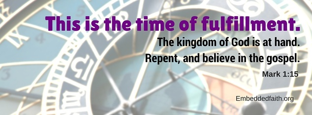 1st Sunday of Lent Facebook Cover - this is the time of fulfillment. - embeddedfaith.org