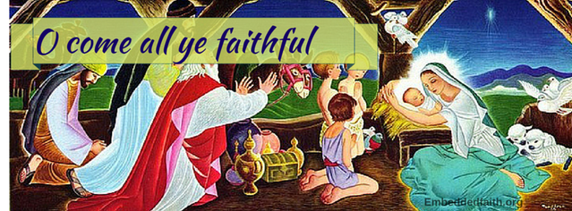 O come all ye faithful facebook cover embeddedfaith.org