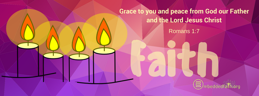 Grace to you and peace from God our Father and the Lord Jesus Christ. Fourth Sunday of Advent Cover Cycle A on embeddedfaith.or