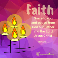 Grace to you and peace from God our Father and the Lord Jesus Christ. Fourth Sunday of Advent Cycle A on embeddedfaith.or