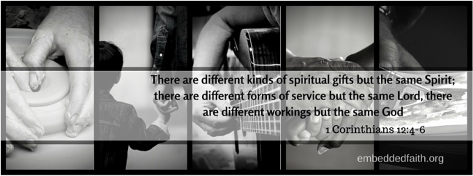 There are different kind of spiritual giftss but the same Spirit... 1 Corinthians 12:4-6. Facebook Cover on Embeddedfaith.org