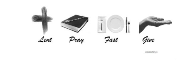 Lent Facebook Cover - lent, pray, fast, give - embeddedfaith.org