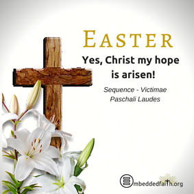 Yes, Christ My hope is arisen. Easter image on embeddedfaith.org