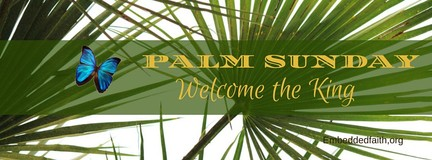 Palm Sunday welcome the King facebook cover - embeddedfaith.org