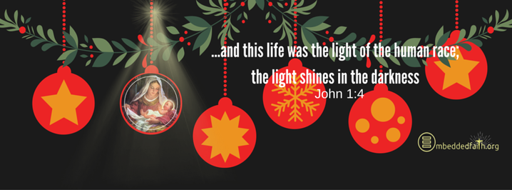 ...and this life was the light of hte human race. Christmas facebook cover on embeddedfaith.org