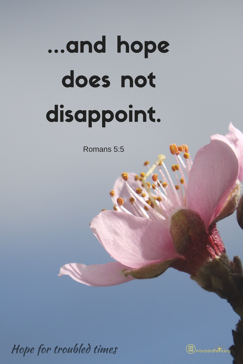 Hope does not disappoint - Romans 5:5