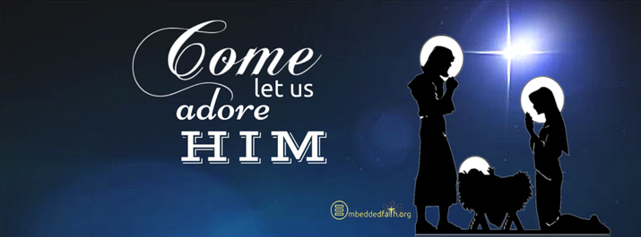 Come Let us Adore Him - Christmas Facebook Cover - embeddedfaith.org