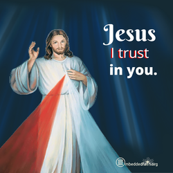 Divine Mercy Sunday - Jesus I trust in You.