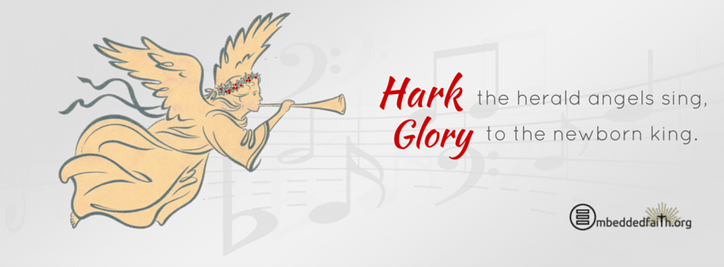 Hark the herald angels sing glory to the newborn king. Christmas facebook cover on embeddedfaith.org