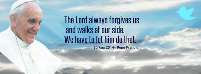 Pope Francis Facebook Cover, the Lord always forgives.