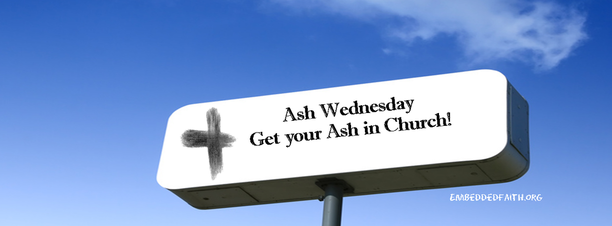 Ash Wednesday Facebook Cover - Get your Ash in Church - embeddedfaith.org