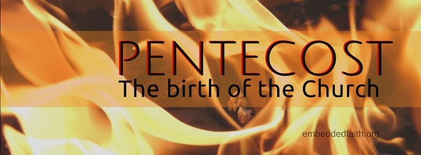 Pentecost: the birth of the Church facebook cover on embeddedfaith.org