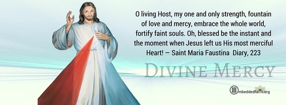 Divine Mercy Sunday facebook cover... Oh, blessed be the instant and the moment when Jesus left us His most merciful Heart! - Diary, 223