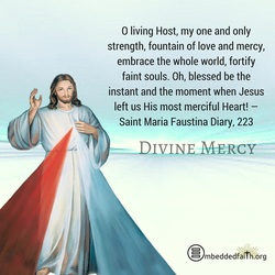 Divine Mercy Sunday... Oh, blessed be the instant and the moment when Jesus left us His most merciful Heart! - Diary, 223