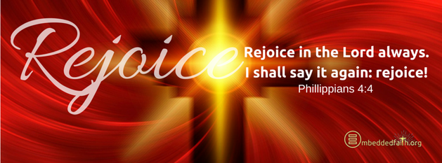 Third sunday of Advent - Cycle C - Facebook Cover.  Gaudete Sunday Rejoice in the Lord always, I shall say it again Rejoice! - Philippians 4:4