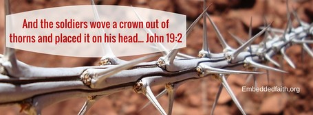 Good Friday Facebook cover - they wove a crown of thorns and placed it on his head. John 19:2
